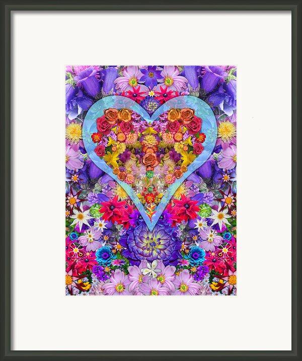 Wild Flower Heart Framed Print By Alixandra Mullins