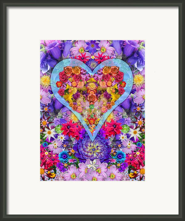 Wild Flower Heart Framed Print By Alixandra Mullins