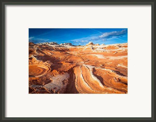 Wild Sandstone Landscape Framed Print By Inge Johnsson