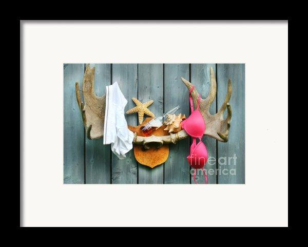 Wild Summer Cottage Weekend Framed Print By Sandra Cunningham