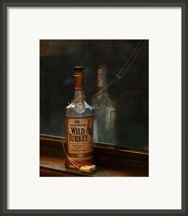 Wild Turkey In Window Framed Print By Brenda Bryant