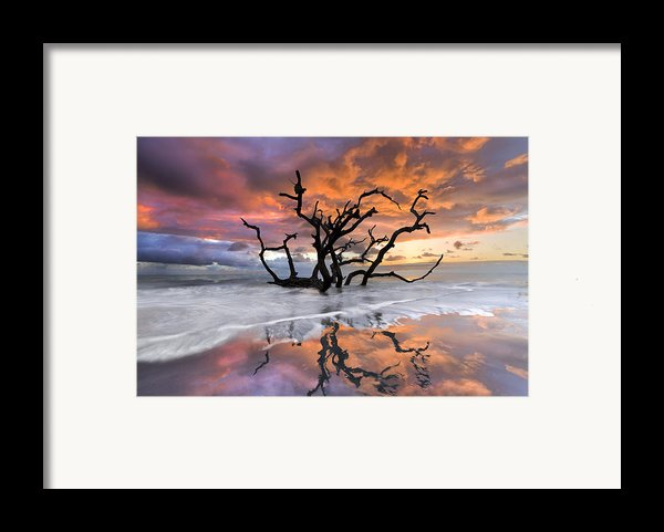 Wildfire Framed Print By Debra And Dave Vanderlaan