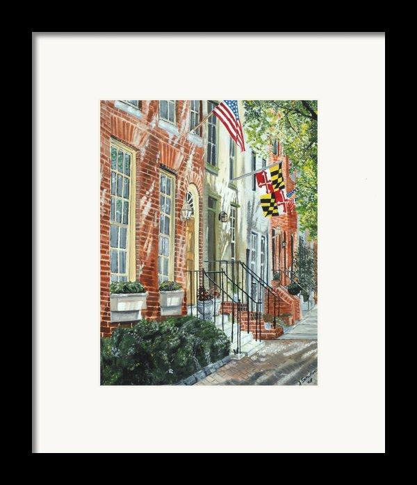 William Street Summer Framed Print By John Schuller