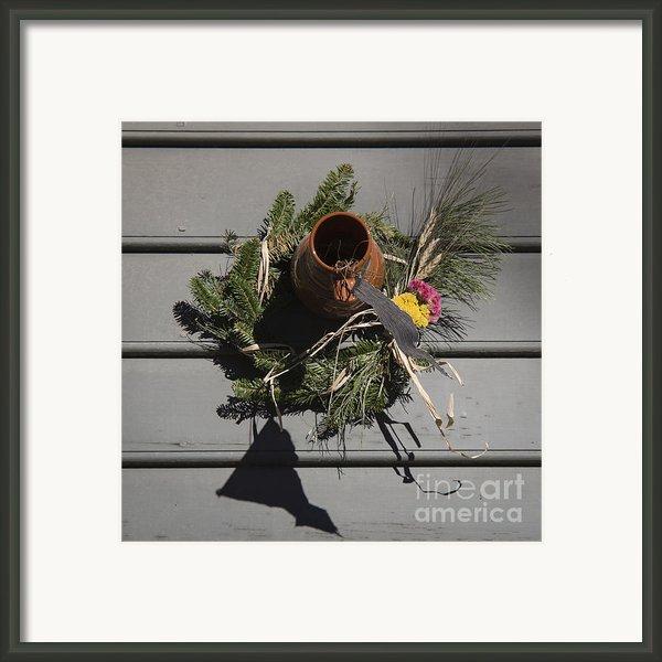 Williamsburg Bird Bottle 2 Framed Print By Teresa Mucha