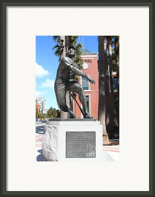 Willie Mays At San Francisco Giants Att Park . 7d7636 Framed Print By Wingsdomain Art And Photography