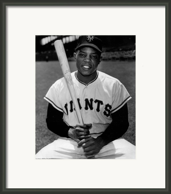 Willie Mays Framed Print By Sanely Great