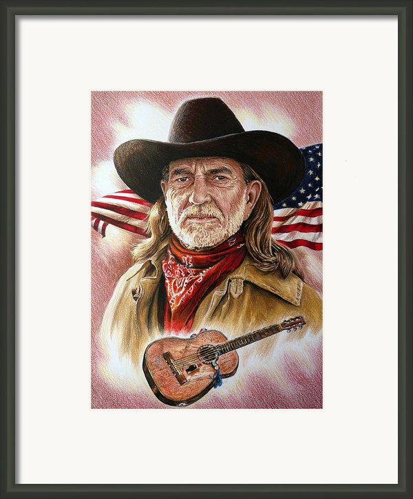 Willie Nelson American Legend Framed Print By Andrew Read