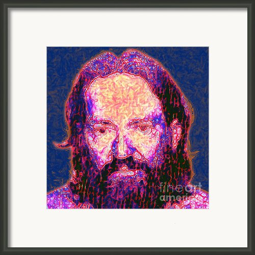 Willie Nelson Painterly 20130328 Square Framed Print By Wingsdomain Art And Photography