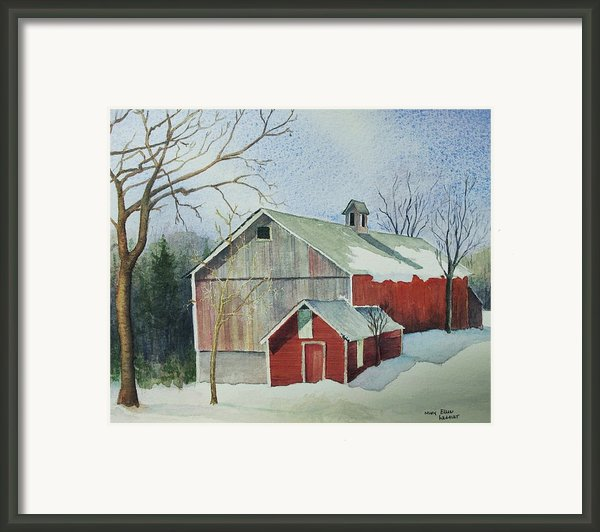 Williston Barn Framed Print By Mary Ellen  Mueller-legault