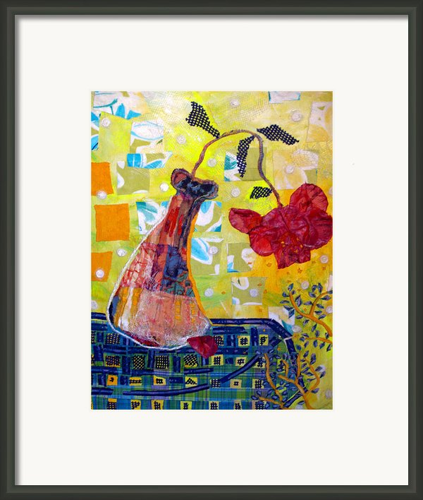 Wilting Rose Framed Print By Diane Fine
