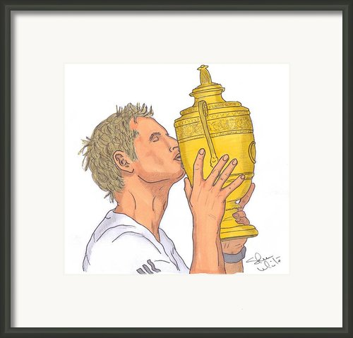 Wimbledon Champion Andy Murray Framed Print By Steven White