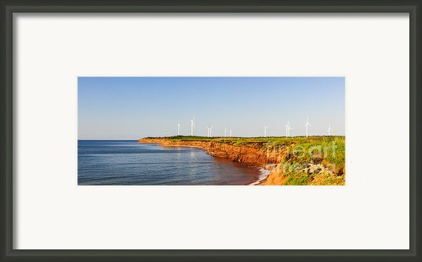 Wind Turbines On Atlantic Coast Framed Print By Elena Elisseeva