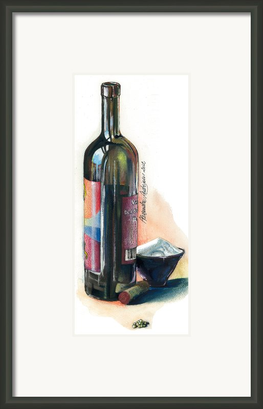 Window On A Bottle Framed Print By Alessandra Andrisani
