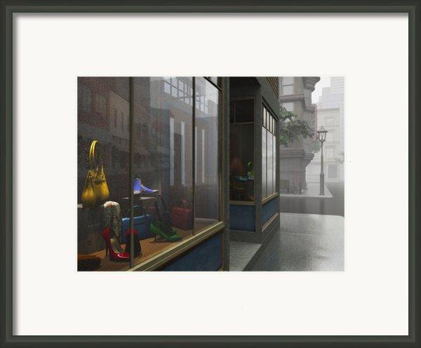 Window Shopping Framed Print By Cynthia Decker