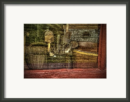 Window Shopping Framed Print By Mary Timman