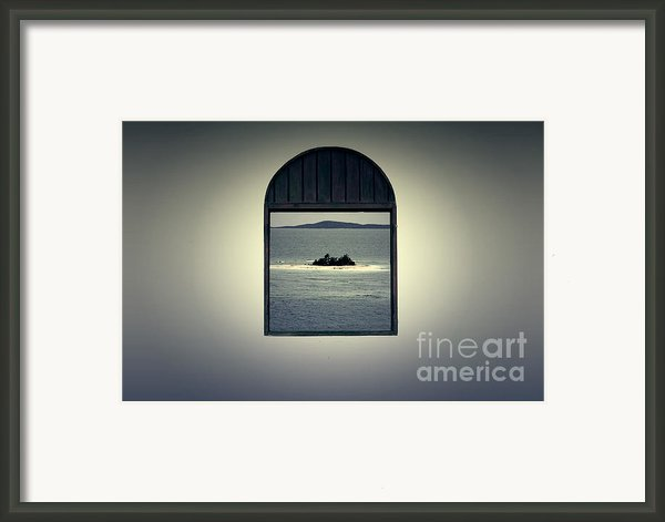 Window View Of Desert Island Puerto Rico Prints Lomography Framed Print By Shawn Obrien
