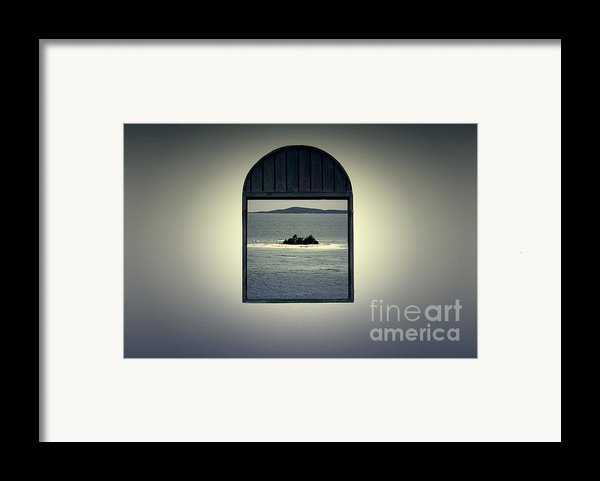 Window View Of Desert Island Puerto Rico Prints Lomography Framed Print By Shawn O