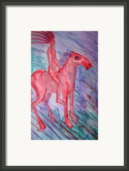 Windy Kentaur Framed Print By Hilde Widerberg