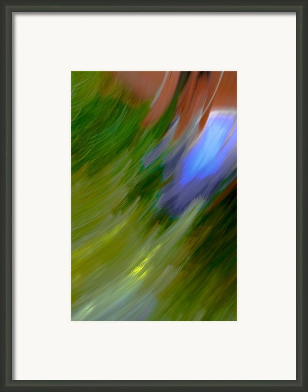 Windy Maginations - Abstract Art Framed Print By Laria Saunders