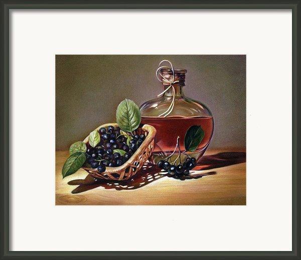 Wine And Berries Framed Print By Natasha Denger