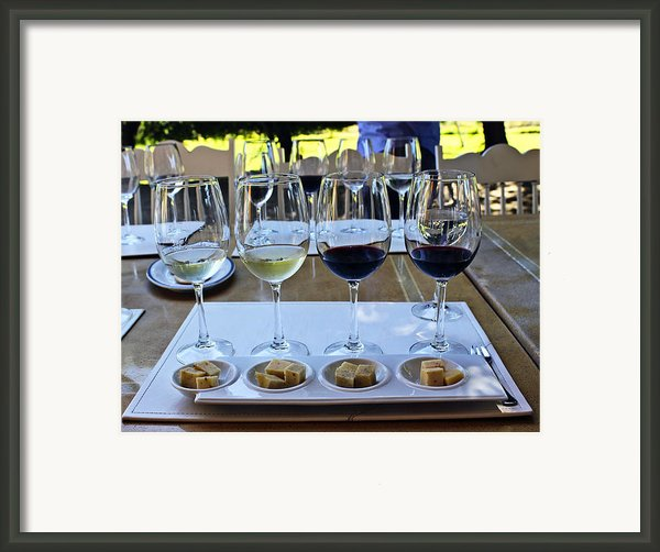 Wine And Cheese Tasting Framed Print By Kurt Van Wagner