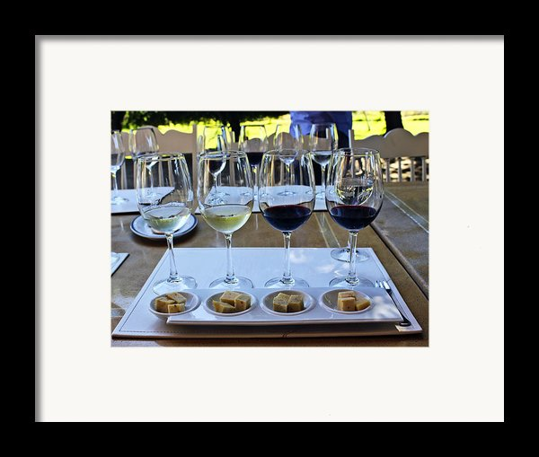 Wine And Cheese Tasting Framed Print By Kurt Van Wagner