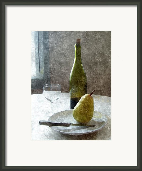 Wine And Pear Framed Print By Karyn Robinson