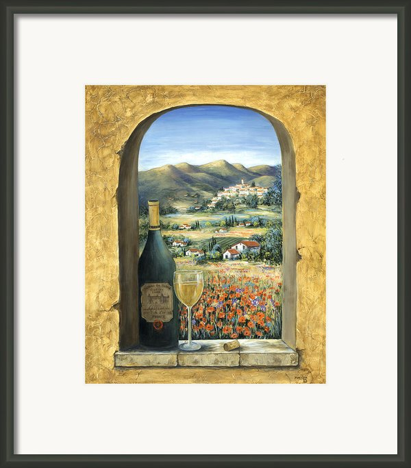 Wine And Poppies Framed Print By Marilyn Dunlap
