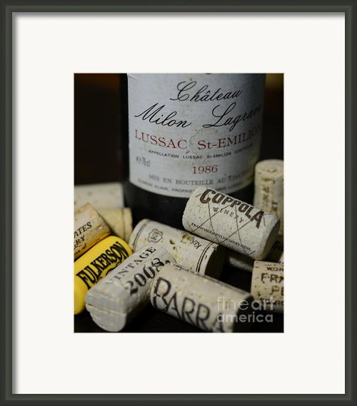 Wine And Wine Corks Framed Print By Paul Ward