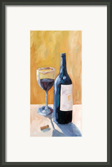 Wine Bottle Still Life Framed Print By Todd Bandy