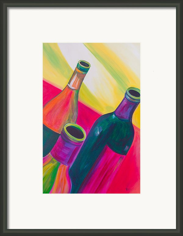 Wine Bottles Framed Print By Debi Pople