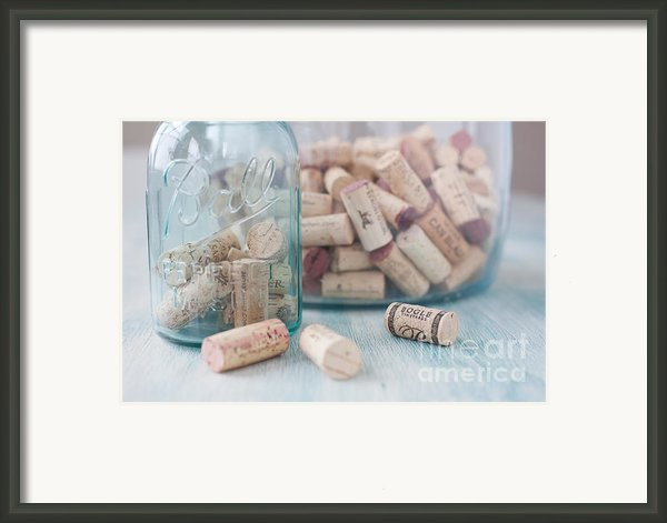 Wine Cork Collection Framed Print By Kay Pickens