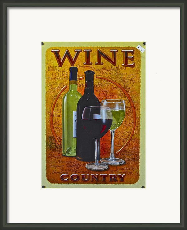 Wine Country Framed Print By Robert Harmon