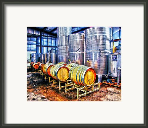 Wine Fermentation Framed Print By Annie Zeno