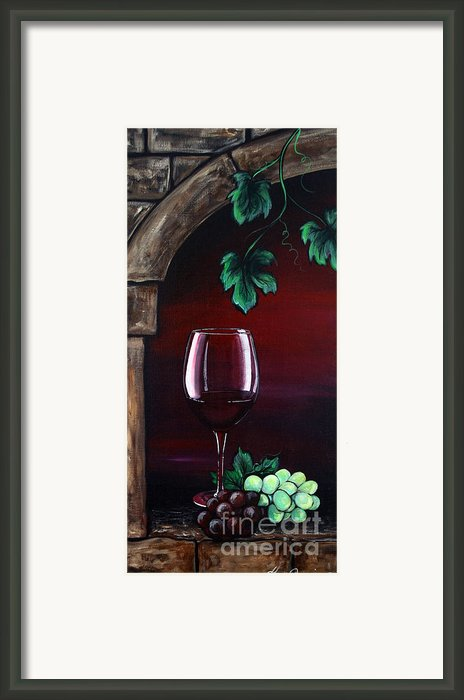 Wine For One Framed Print By Danise Abbott