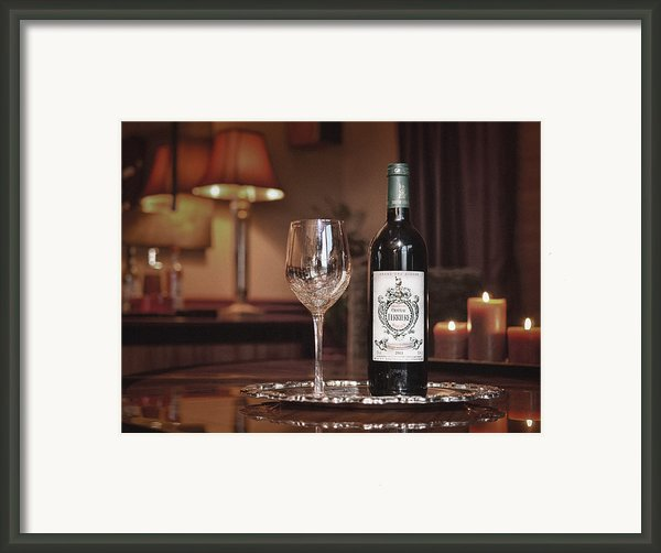 Wine For One Framed Print By Dennis James