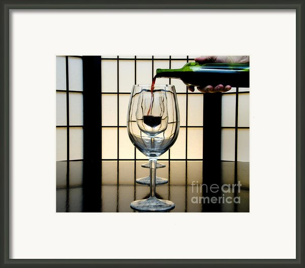 Wine For Three Framed Print By John Debar