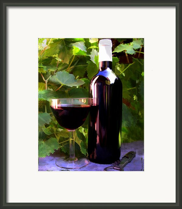 Wine In The Sunset Framed Print By Elaine Plesser