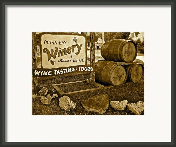 Wine Is Fine Framed Print By Frozen In Time Fine Art Photography