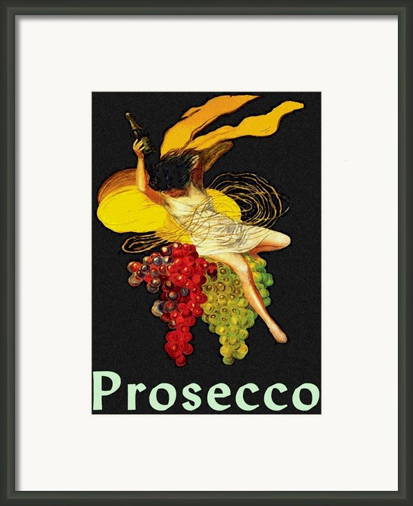 Wine Maid Prosecco Poster Framed Print By Jerry Schwehm