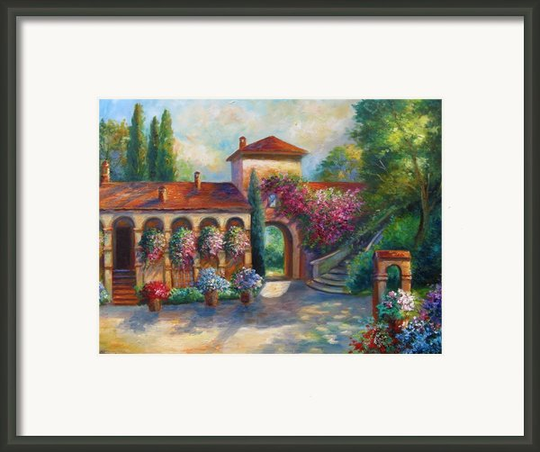 Winery In Tuscany Framed Print By Gina Femrite