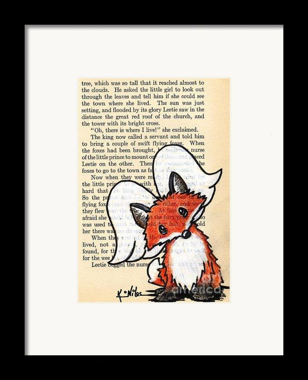 Winged Fox Framed Print By Kim Niles