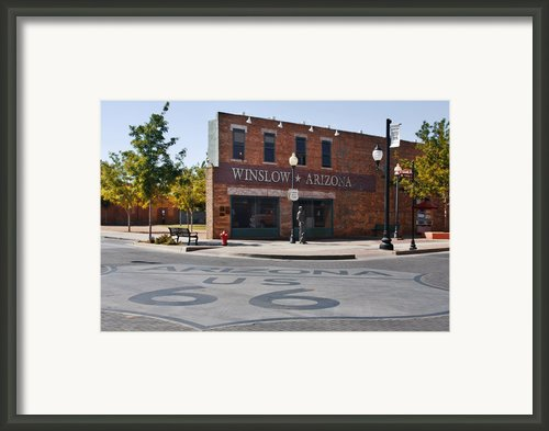 Winslow Arizona - Such A Fine Sight To See Framed Print By Christine Till