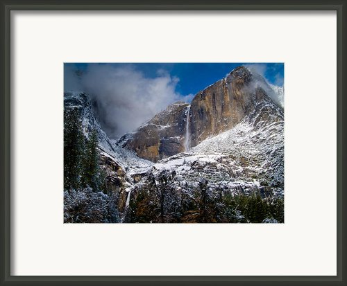 Winter At Yosemite Falls Framed Print By Bill Gallagher