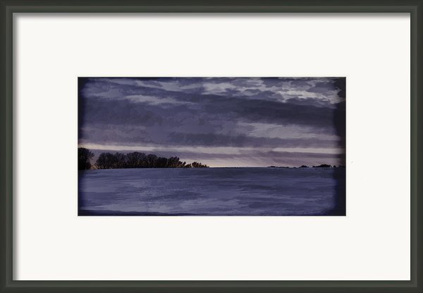 Winter Blues Framed Print By Thomas Young