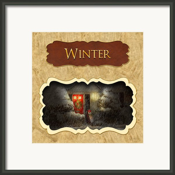 Winter Button Framed Print By Mike Savad