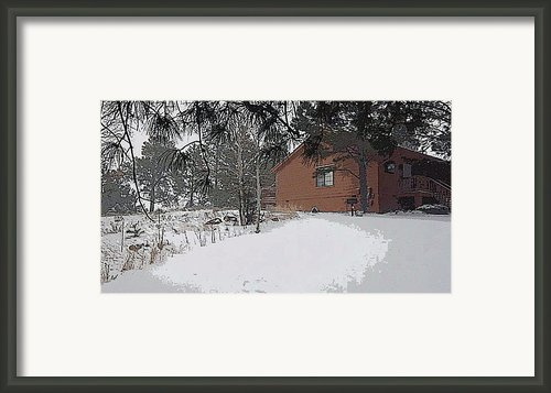 Winter Cabin  Framed Print By Gilbert Artiaga