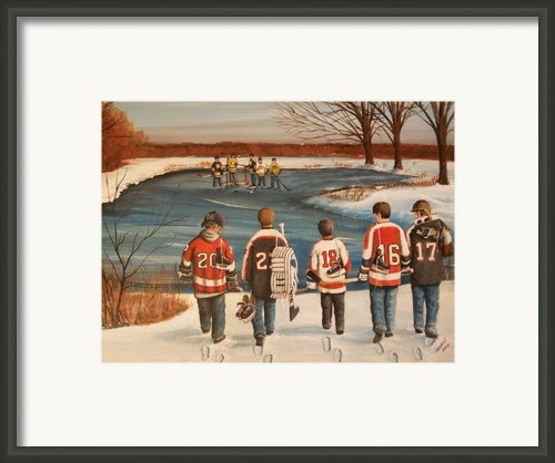 Winter Classic - 2010 Framed Print By Ron  Genest
