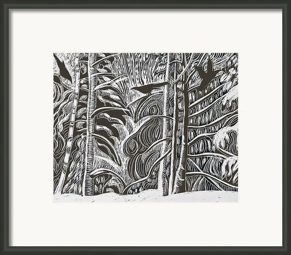 Winter Etching Framed Print By Grace Keown