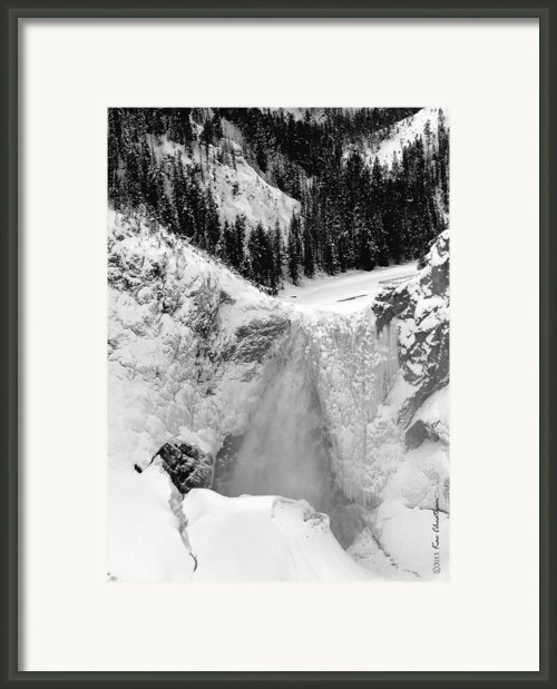 Winter Falls On The Yellowstone Framed Print By Kae Cheatham